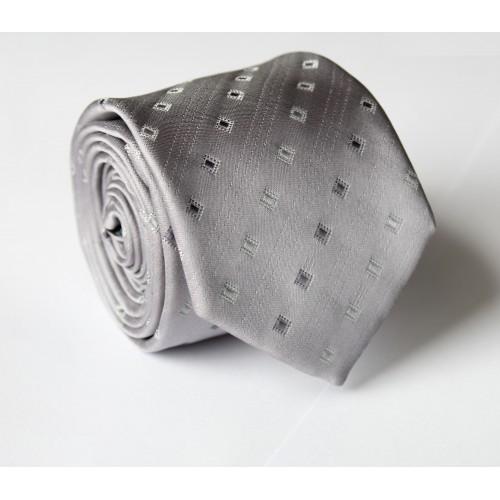 Šedá kravata ANGELO di MONTI ADM-97