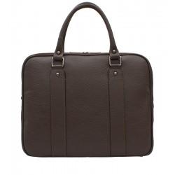 Dámská kožená taška - hnědá