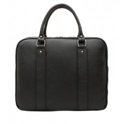Dámská kožená taška - černá