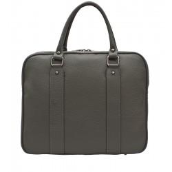 Dámská kožená taška - šedá