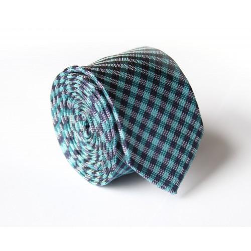 Modro - zelená kravata ANGELO di MONTI ADM-126
