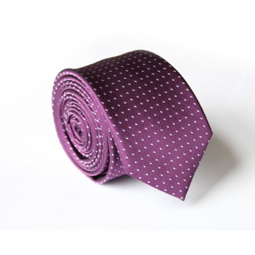 Fialová kravata ANGELO di MONTI ADM-133