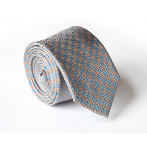 Šedá kravata ANGELO di MONTI ADM-137