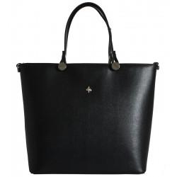 Kožená italská kabelka taška černá