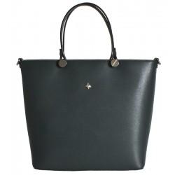 Kožená italská kabelka taška grafit