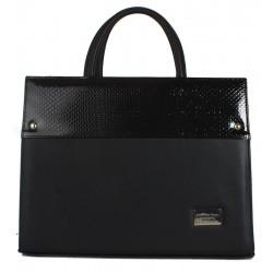 Dámská kožená taška Joanna Bags - černá