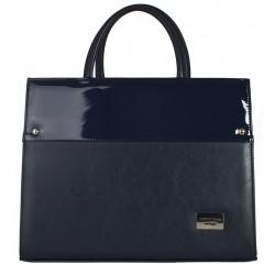Dámská kožená taška Joanna Bags - modrá