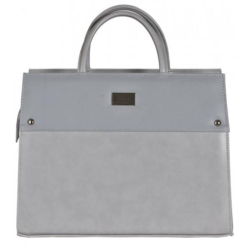 Dámská kožená taška Carla Berry - šedá