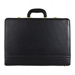 Kožený diplomatický kufřík MARCO - černý
