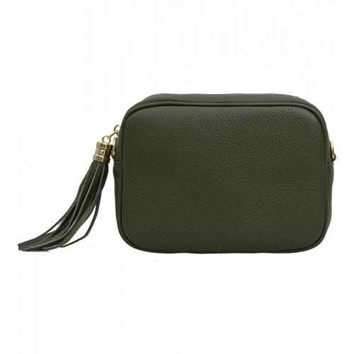 Italská kožená kabelka zelená