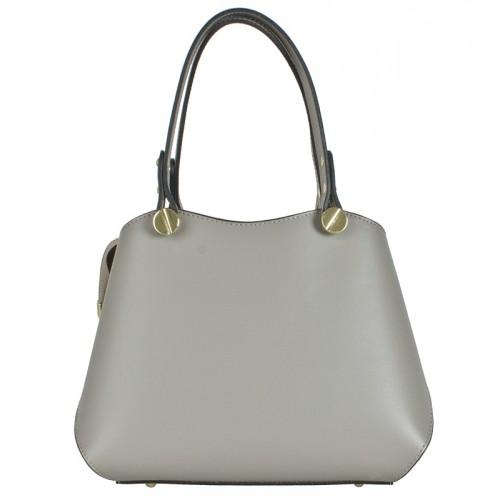 Klasická Italská kožená kabelka béžová