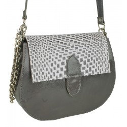 Malá kožená kabelka Słoń Torbalski Charlotte EXCLUSIVE vzor 2