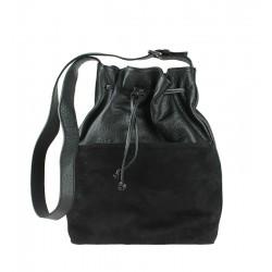 Italská kožená kabelka černá