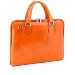 Italská dámská kožená taška - světle hnědá