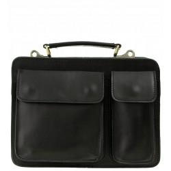 Pánská kožená taška Vera Pelle - černá
