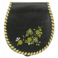 Kožená kabelka SŁOŃ TORBALSKI - Jola FOLK typu listonoška