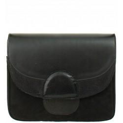 Kožená kabelka SŁOŃ TORBALSKI typu listonoška - RAINBOW