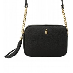 Malá kožená kabelka Wojewodzić - černá