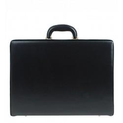 Diplomatický kufřík MARCO - černý s pozlaceným kováním