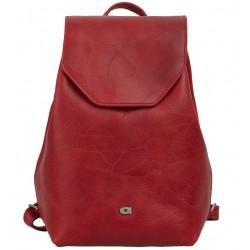 Dámský kožený batoh DAAG Fanky Go - červený