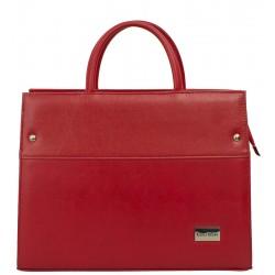 Dámská kožená taška Carla Berry - červená