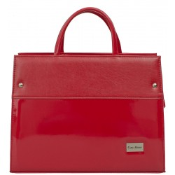 Dámská kožená taška Carla Berry - červená lak