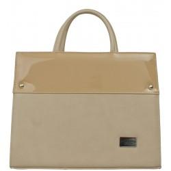 Dámská kožená taška Carla Berry - béžová