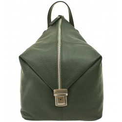 Dámský kožený batoh Vera Pelle - zelený