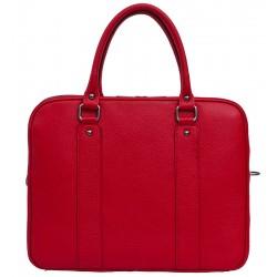 Dámská kožená taška - červená