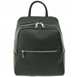 Dámský kožený batoh Vera Pelle - černý