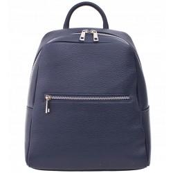 Dámský kožený batoh Vera Pelle - modrý