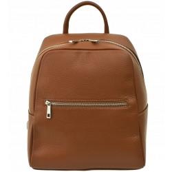 Dámský kožený batoh Vera Pelle - hnědý