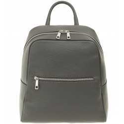 Dámský kožený batoh Vera Pelle - šedý