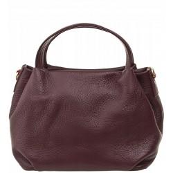 Italská kožená kabelka - bordó