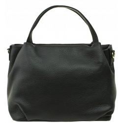 Italská kožená kabelka - černá