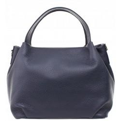 Italská kožená kabelka - tmavě modrá