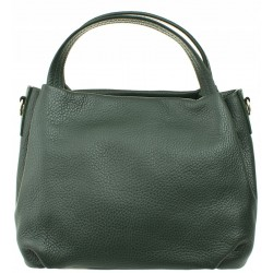 Italská kožená kabelka - zelená