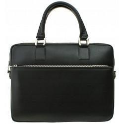 Italská kožená taška - černá