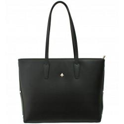 Italská kožená kabelka taška Vera Pelle - černá