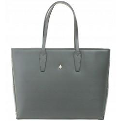 Italská kožená kabelka taška Vera Pelle - šedá