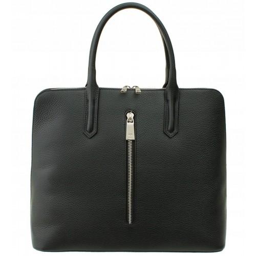 Italská kožená kabelka Verra Pelle - černá