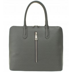 Italská kožená kabelka Verra Pelle - šedá