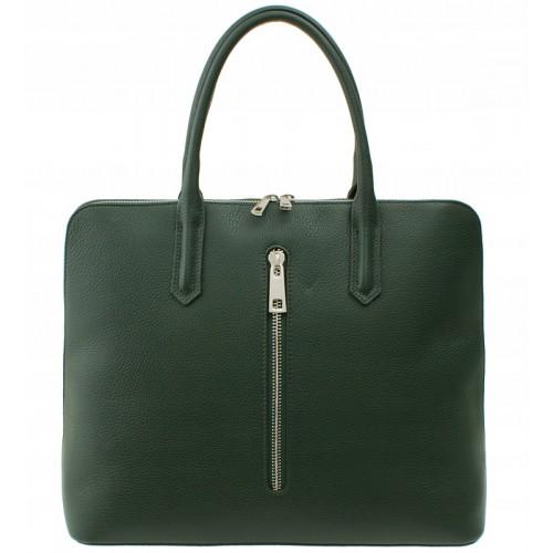 Italská kožená kabelka Verra Pelle - zelená