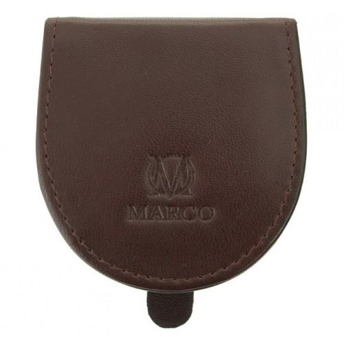 Kožená peněženka Marco na mince - hnědá