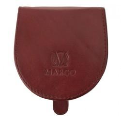 Kožená peněženka Marco na mince - bordó
