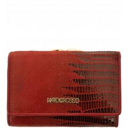 Dámská kožená peněženka Mato Grosso hadí vzor - červená