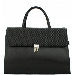 Dámská aktovka kabelka - černá