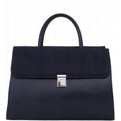 Dámská aktovka kabelka - modrá