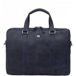 Kožená taška Daag Funky Go - modrá