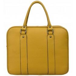 Dámská kožená taška - žlutá